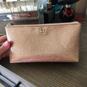 Kate Spade rose gold make up pouch